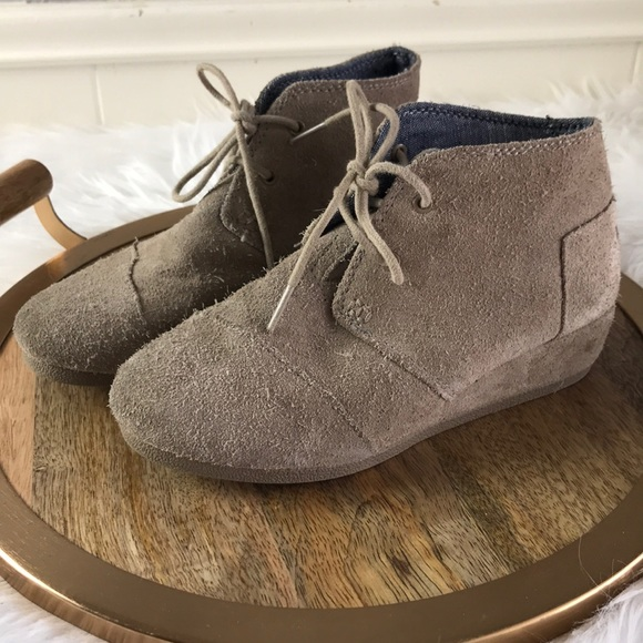 14735214ec7 Booties Y2 kids suede Wedge Ankle nude booties. M 5abbbec53800c516ea8a0d15